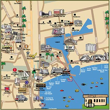 Lotus Eilat Restaurant Map